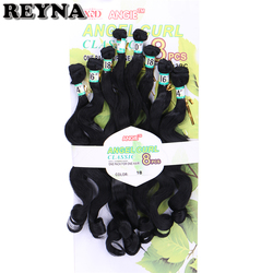 Czarny kolor syntetyczne doczepy do włosów wyplata ciało fala 8 sztuk jeden zestaw włókno termoodporne wiązki włosów
