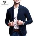 Hombre suéter de las rebecas, hombre sólido de la manga completa suéter, moda turn-down collar para hombre 15806