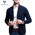 Man cardigans sweater,male solid full sleeve sweater,fashion turn-down collar for man 15806