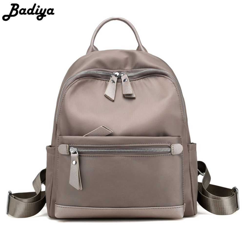 49d61b477221 US $20.79 35% OFF|Fashion Women Backpack Nylon All match Casual Shoulder  Bag Lady Collage Student Small Casual School Bags mochila-in Backpacks from  ...