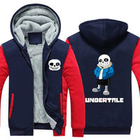 Dropshiping New Winter Jackets Coats Undertale Hoodie Frisk Coat Game Hooded Thick Zipper For Men Women