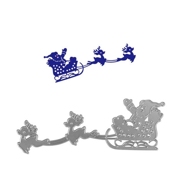 Slitta Di Babbo Natale Fai Da Te.Babbo Natale Slitta Di Natale Di Design In Metallo Taglio Muore