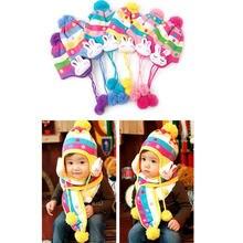 Детский комплект из шапки и шарфа в горошек 6 3 года