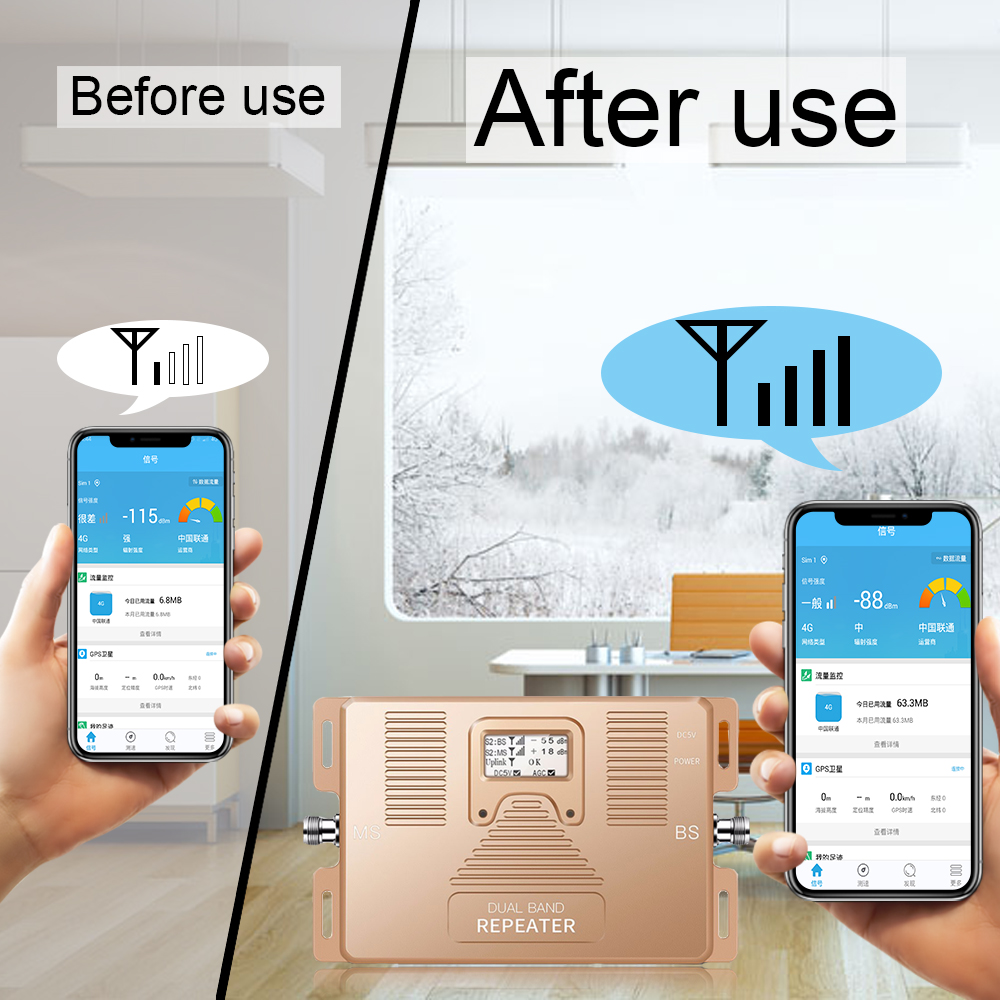 Image 3 - Full Smart 4G LTE 800 mhz B20 GSM 900 mhz Mobile Phone Signal Booster GSM LTE 4G Cell Phone Cellular Signal Repeater Amplifier-in Signal Boosters from Cellphones & Telecommunications