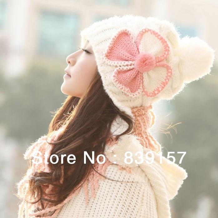 (1Piece) New women beanies autum winter butterfly knitting hat for women Free shipping