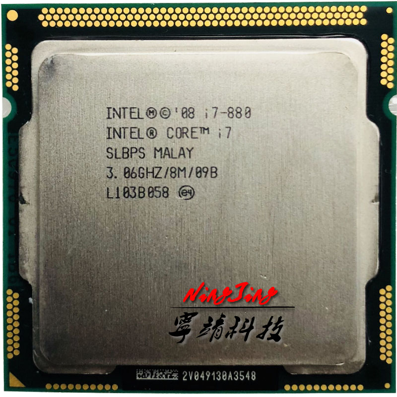 Intel Core i7 880 i7 880 3 0 GHz Quad Core CPU Processor 8M 95W LGA