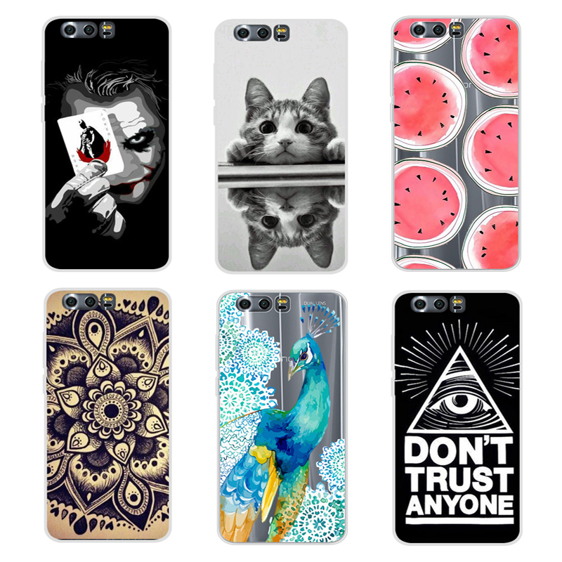 "Cool Pattern Cover For Huawei Honor 9 Case 5.15"" Color Drawing Soft Silicone TPU Cover Case For Huawei Honor 9 Cover Phone Cases"