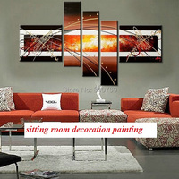NEW 100% Handpainted Wall Paintings Home Decorative Modern Abstract Art Paintings for Sale oil painting DM 918005