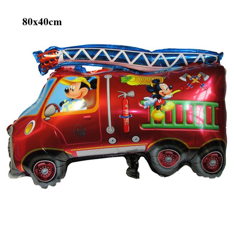 Kids toys cars balloons fire engine children birthday party decoration supplies balloons inflatable foil air helium balloons