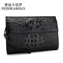 FEIDIKABOLO Alligator męskie portfele skórzane czarny portfel kopertówki wysokiej jakościowy projekt portfele poręczne torby męskie torebki Monederos tanie tanio Długi 0 5 KG Skóra syntetyczna 18 5cm High-Grade PU Leather Moda 1018 Wnętrza przedziału Zdjęcie holder Zamek poucht