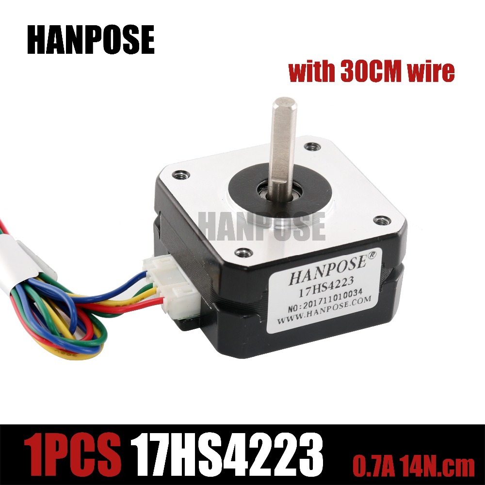 1pcs Stepper Motor 4-lead Nema 17 17hs4223 22mm 42 motor 3D printer extruder for J-head bowden Titan Extruder 3d printer parts tevo black widow titan step motor for titan extruder 3d printer extruder 42 42 23mm for j head bowden