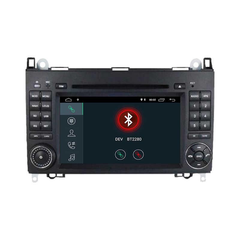 4 ядра Android 8,1 dvd-плеер автомобиля для Mercedes Benz/Sprinter/W169/B200/B-Класс Авто Радио gps навигации wi-fi стерео TPMS FM