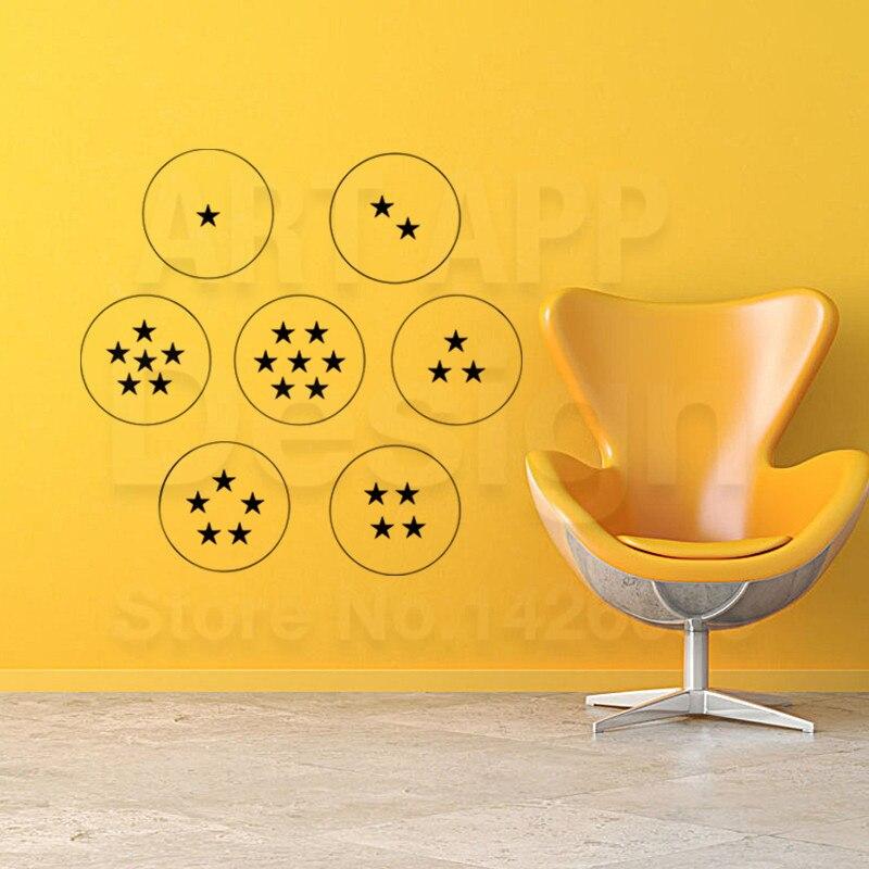 Arte nuevo diseño de decoración de vinilo barato bolas de Dragón casa decoración