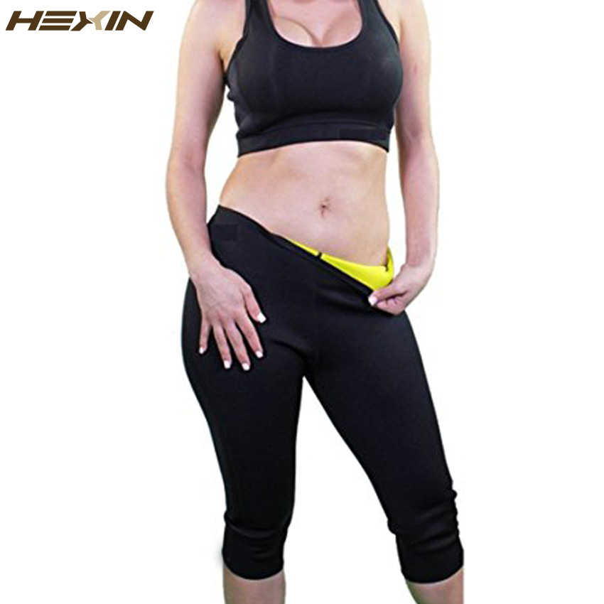 HEXIN Womens adelgazamiento pantalones Hot Thermo neopreno sudor Sauna Body Shapers Fitness Stretch Control bragas Burne cintura Slim Pantalones