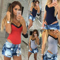 Women Sexy V-neck A Body Lace Sleeveless Bodysuit Overalls  Da Club Jumpsuit woman female clothes