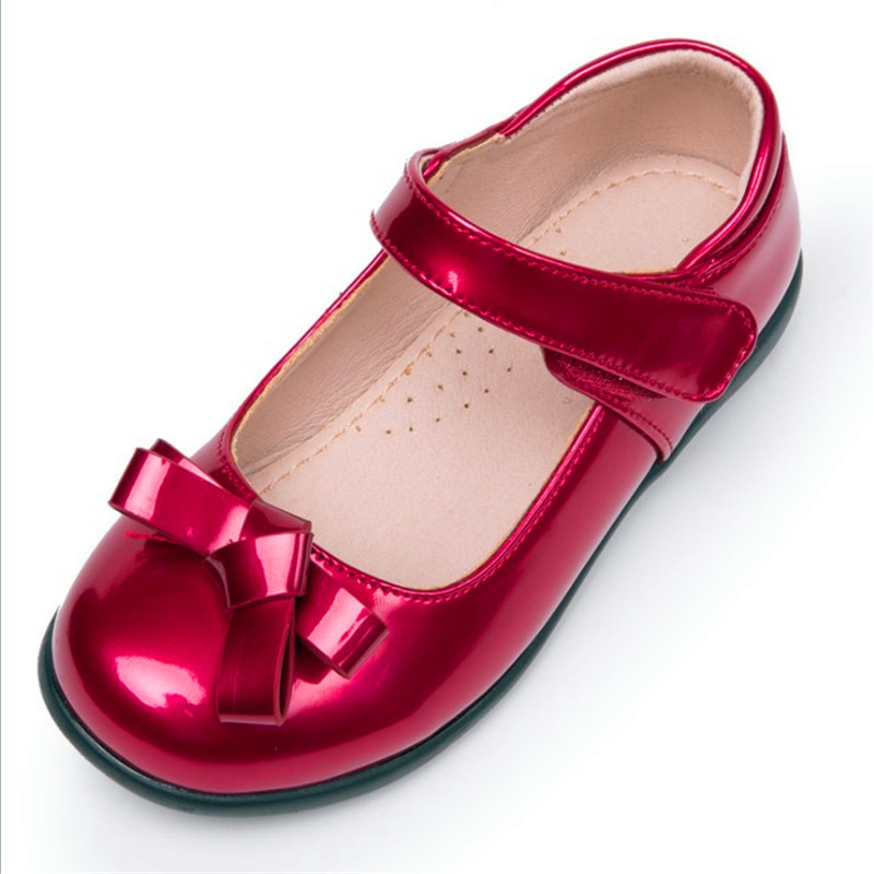 Party Girls Shoes New 2019 Baby Children Kids Girl Princess Patent Leather Red Shoes Spring Autumn Size 26~39# Over 3 Years Old