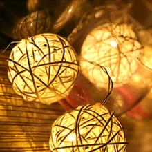 1M LED Lights Flashing String with Rattan