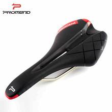 PROMEND PU Leather Bicycle Saddle Skidproof MTB Road Mountain Bike Cycling Hollow Front Seat Cushion Parts 270*130mm
