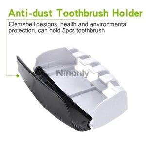 Image 3 - Creativo distributore automatico di dentifricio portaspazzolino dentifricio spremiagrumi Kit supporto da parete organizzatore Set dispositivo lavaggio ad aspirazione