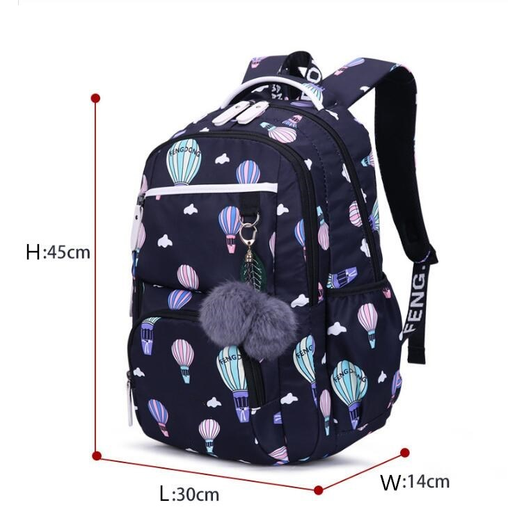 Image 3 - OKKID children school bags for girls russia elementary school backpack cute flower print pink backpack schoolbag girl book bag-in School Bags from Luggage & Bags