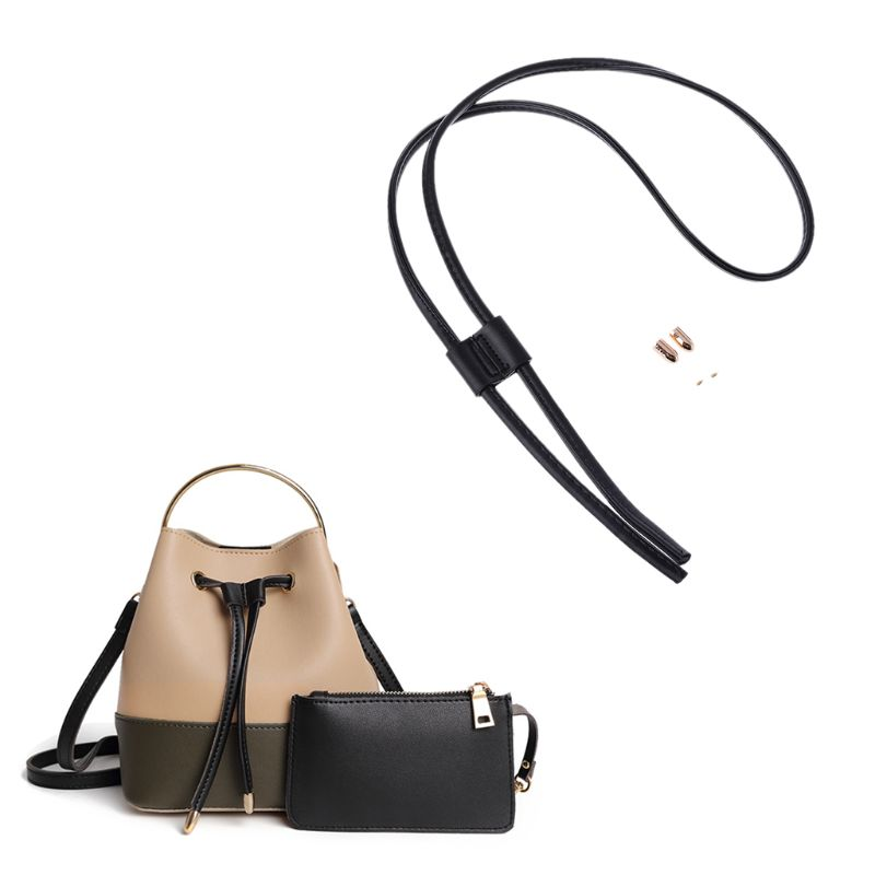 WoMan Girls Detachable PU Leather Bag Strap Belt Bucket Bags Drawstring Bunches Backpack Beam Pocket Accessories