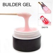 УФ гель Nail желе Builder гель Профессиональный розовый кристалл прозрачный Французский маникюр Советы Клей Высокое качество модные гель