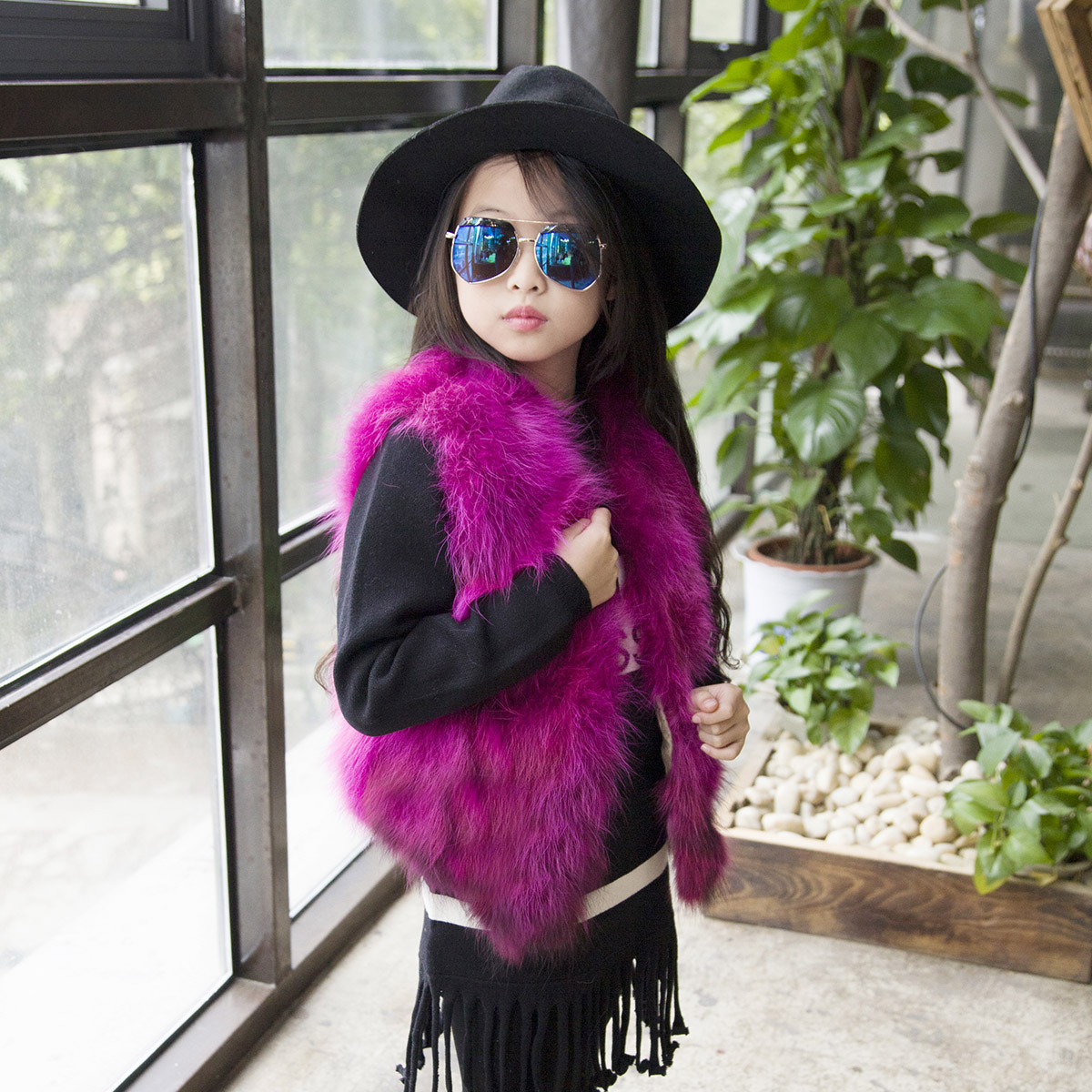 Europe and The United States Childrens Fur Coat Spring Girls Raccoon Fur Fashion Casual Short Vest JacketEurope and The United States Childrens Fur Coat Spring Girls Raccoon Fur Fashion Casual Short Vest Jacket