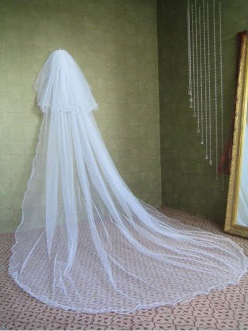 2018 Two- Layer White/Ivory Wedding Veils Veil with Comb