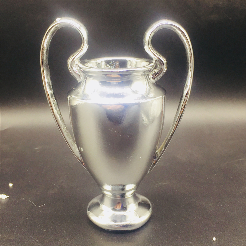 Soccerwe Soccer Doll Cup Club Champions Trophy Resin 16 cm Height Titan Cup Hot Sales Lovely Gift Silver Color trophy