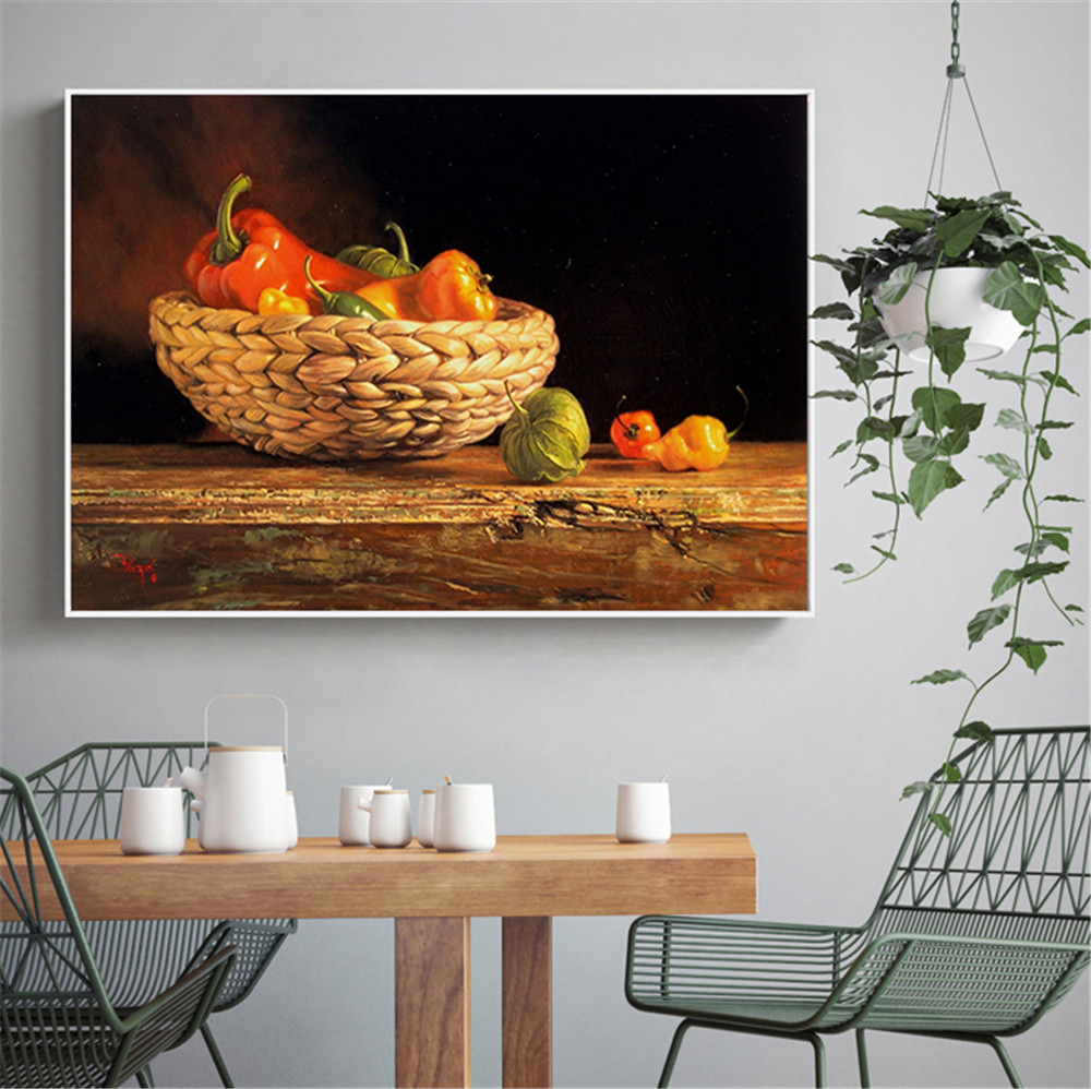 Modern Art Food Painting Canvas Posters and Prints Wall Pictures for Living Room Scandinavian Pepper Kitchen Decor Wall Art