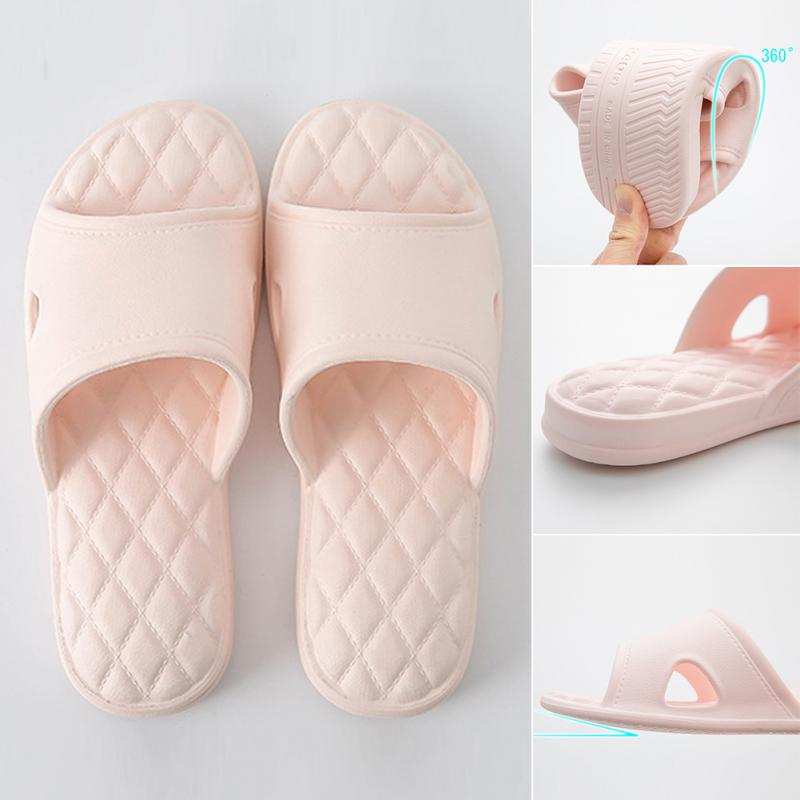 Women Bathroom Flip Flop EVA Indoor Soft Anti-slip Slippers Thick Household Flat Casual Slippers Pink Drop Shipping pink polka flip flop five piece pedicure set with matching tag