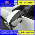 Estilo do carro De Carbono espelho retrovisor chuva sobrancelha capa de chuva À Prova de Chuva Lâmina Flexível Protetor Acessórios do carro Para Kia Carens 2007-2016