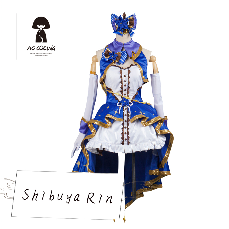 Shibuya Rin Cosplay THE IDOLM@STER CINDERELLA GIRLS The Idolmaster Cosplay ASCOSING Blue Costume