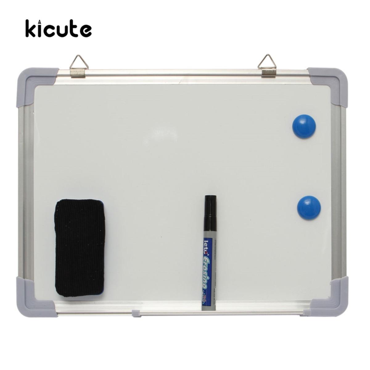 Kicute 300x400 MM Magnetico Secco Cancellare Bordo Lavagna Lavagna Double Side Con La Penna Cancellare Magneti Pulsanti Per Ufficio scuola