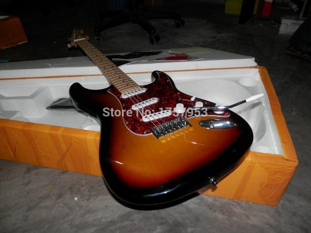 Фабрика Custom Shop 2017 новые Прибытие Пользовательские ST Sunburst Электрогитары Бесплатная Доставка 1 6 Stratocaster