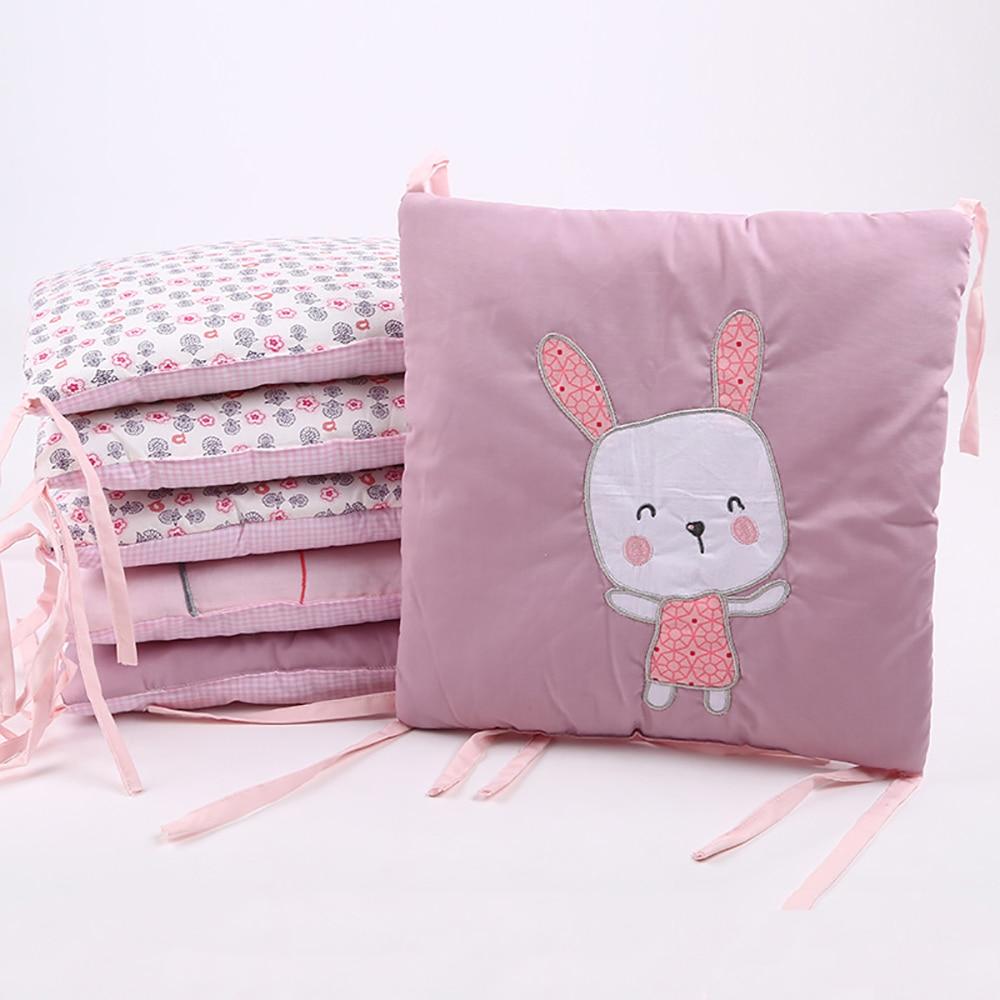 6Pcs/Pack Safety Baby Bed Protector Crib Bumper Baby Bed Bumper Newborn Infant Bed Bumper In The Crib Toddler Bedding Set