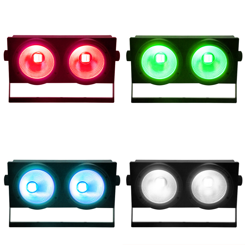 2eyes 2x100W HOT LED COB Light DMX Stage Lighting Effect Led Blinder Light Cool White And Warm White High Power