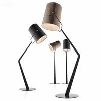 Italy Fork Led Floor Lamp R7S Rotatable Linen Lampshade Minimalism Floor Lamp Lustre Living Room Led Lighting