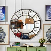 Odd ranks yield C living room wall murals retro do the old Roman numerals large mirror decorative wall clock n