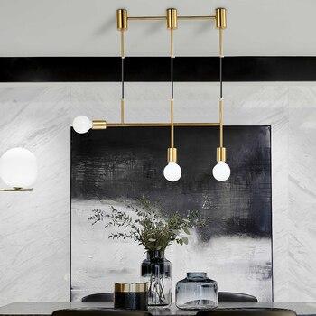 Nordic Linia Minimalistyczne Osobowości Restauracja Bar Wisiorek światła Proste Sypialnia Kreatywny Projektant Lampa WF5271047