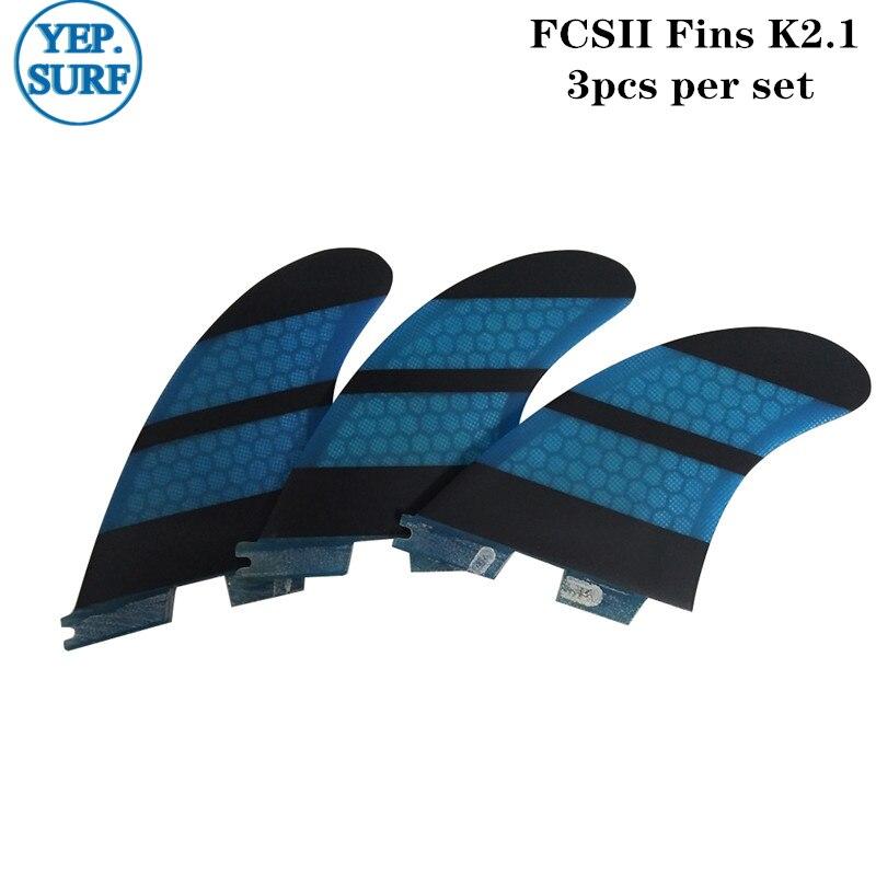 Surf Fins fcs ii K2.1 Quilhas Blue Honeycomb Fins a set of five Surf FCS2 Fins SurfingSurf Fins fcs ii K2.1 Quilhas Blue Honeycomb Fins a set of five Surf FCS2 Fins Surfing