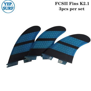 Surf Fins fcs ii K2.1 Quilhas Blue Honeycomb Fins a set of five Surf FCS2 Fins Surfing free shipping surfboard fins high quality honeycomb future fins in surfing quilhas fins