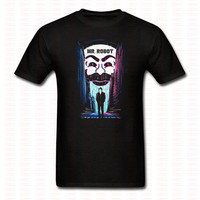 Mr Robot FSociety T Shirt Adult Cotton Brand Clothing Print Short Sleeve O Neck Casual Tshirt