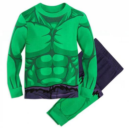 New Hulk Long Sleeve Tops+Pants 2pcs Kids Pajamas Sets Cotton Boys Sleepwear Autumn Spring Girls Underwear Children Clothing(China)