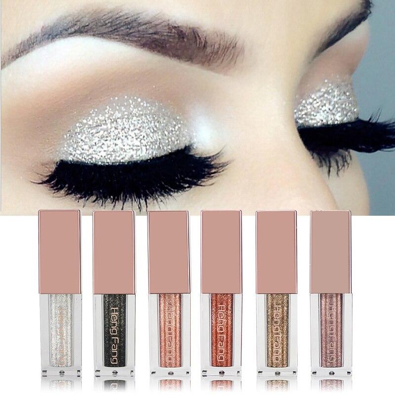 Beauty & Health Eye Shadow Hengfang Glitter Eye Shadow Liquid Make Up Glitter Matte Eyeshadow Brush Korean Cosmetics Lasting Waterproof Eyeshadow Makeup