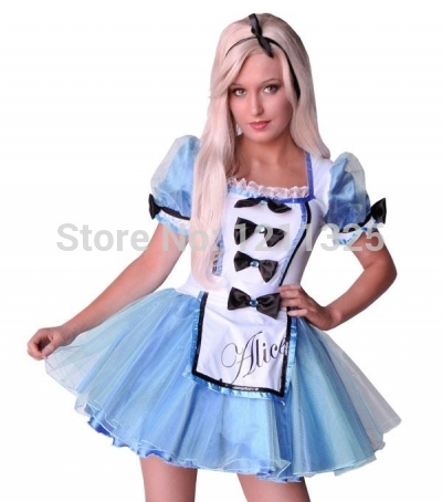 free shipping ZY874 FREE SHIPPING alice costume fancy dress costume plus size halloween costume S-2XL
