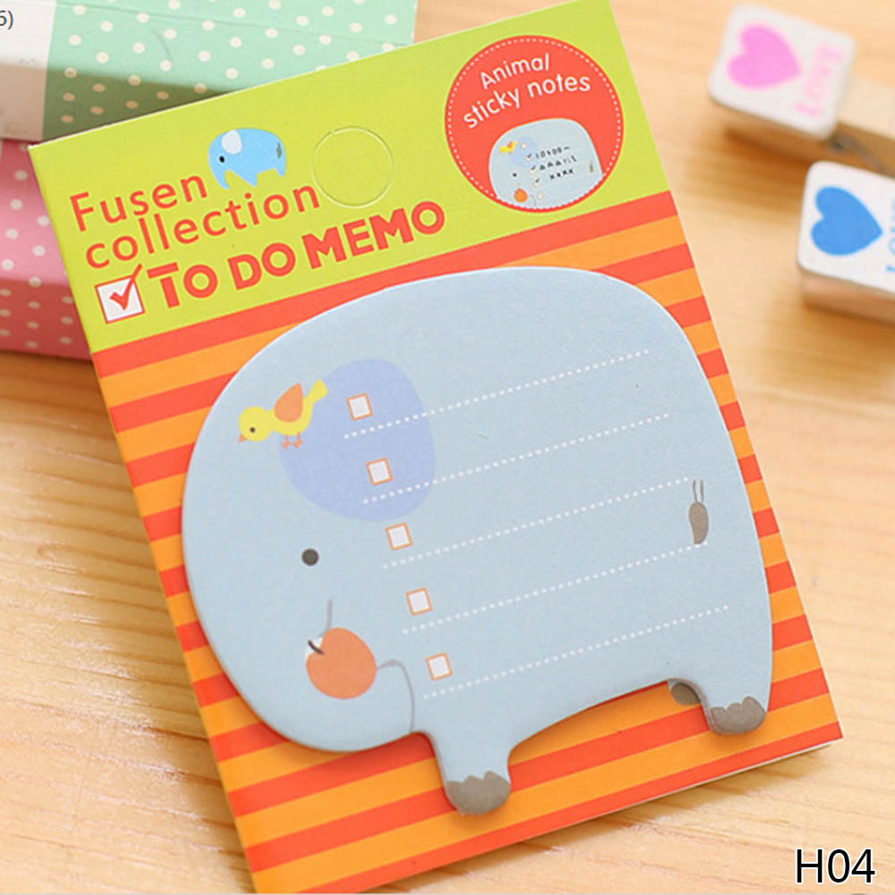1Pcs Animale de desene animate Memo Pad Paper Sticky Notes Post - Blocnotesuri și registre - Fotografie 4