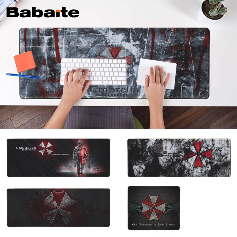 Babaite Resident Evil Umbrella Corporation Gamer Speed Mice Retail Rubber Mousepad Speed/control Version Large Gaming Mousepad Computer & Office