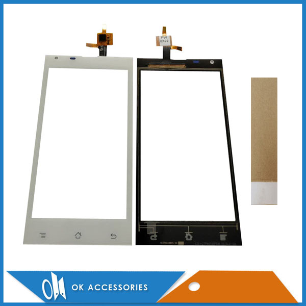 White Black Color For BQ BQS 4515 BQS-4515 Touch Screen Digitizer Panel Replacement Front Glass Touchscreen With Tape 1PC/Lot