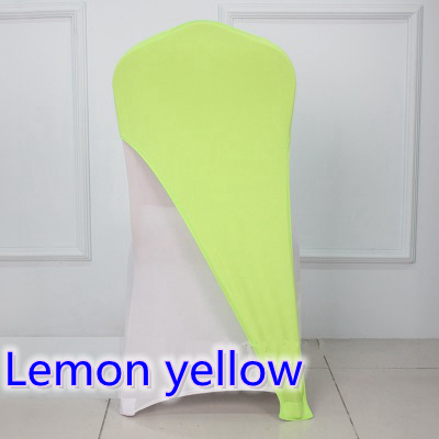 Lemon Yellow Colour Lycra Chair Covers Caps Universal For Wedding  Decoration Spandex Party Chair Cover Fit All Chairs Wholesale In Sashes  From Home U0026 Garden ...